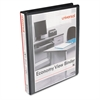 "Economy Round Ring View Binder, 1"" Capacity, Black, 12/Carton"