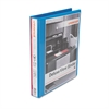 "Universal Deluxe Round Ring View Binder, 1"" Capacity, Light Blue"