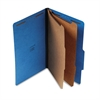 Universal Pressboard Classification Folders, Legal, Six-Section, Cobalt Blue, 10/Box