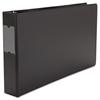 "Legal-Size Round Ring Binder with Label Holder, 2"" Capacity, 11 x 17, Black"