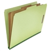Pressboard Classification Folder, Legal, Six-Section, Green, 10/Box