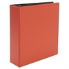 "Universal Economy Non-View Round Ring Binder, 3"" Capacity, Red"