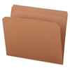 Kraft File Folders, Straight Cut, Top Tab, Letter, Kraft, 100/Box