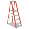 Fiberglass Pro Platform Step Ladder, 25w x 9 1/2d x 81 1/4h, 4-Step, Orange