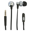 Case Logic 400 Series Earbuds, 4 ft Cord, Black/Silver