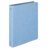 "Wilson Jones PRESSTEX Round Ring Binder, 1"" Cap, Light Blue"