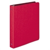 "Wilson Jones PRESSTEX Round Ring Binder, 1"" Cap, Executive Red"