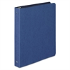 "Wilson Jones PRESSTEX Round Ring Binder, 1"" Cap, Dark Blue"