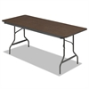 Economy Wood Laminate Folding Table, Rectangular, 72w x 30d x 29h, Walnut