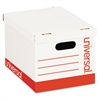 Universal Economy Storage Box, Lift-Off Lid, Letter/Legal. White, 12/Ct