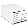 "Storage Box Drawer Files, Legal, Fiberboard, 15"" x 24"" x 10"", White, 6/Carton"
