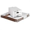 Universal Economy Storage Box w/Tie Closure, Legal, Fiberboard, White, 12/Carton