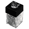 "Paper Clips w/Magnetic Dispenser, Wire, 1 3/8"", Silver, 12/100 Carton Boxes"