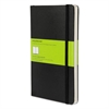 Moleskine Hard Cover Notebook, Plain, 8 1/4 x 5, Black Cover, 192 Sheets