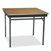 Barricks Special Size Folding Table, Square, 36w x 36d x 30h, Walnut/Black