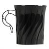 WNA Classicware Plastic Mugs, 8 oz., Black, 8/Pack