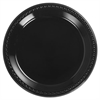 Chinet Heavyweight Plastic Plates, 10 1/4 Inches, Black, Round