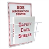 SDS Information Center, 15 x 20, White/Red