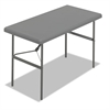 IndestrucTables Too 1200 Series Resin Folding Table, 48w x 24d x 29h, Charcoal