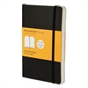 Moleskine Classic Softcover Notebook, Ruled, 5 1/2 x 3 1/2, Black Cover, 192 Sheets