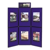 Quartet Show-It! Display System, 72 x 72, Blue/Gray Surface, Black Frame