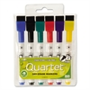 Quartet Low-Odor ReWritables Dry Erase Mini-Marker Set, Fine Point, Classic, 6/Set
