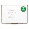 Prestige Total Erase Whiteboard, 72 x 48, White Surface, Euro Titanium Frame