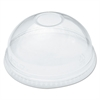 Ultra Clear Dome Cold Cup Lids f/16-24 oz Cups, PET, 100/Pack