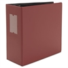 "D-Ring Binder, 5"" Capacity, 8-1/2 x 11, Burgundy"