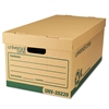 "Universal Recycled Record Storage Box, Letter/Legal, 12"" x 24"" x 10"", Kraft, 12/Carton"