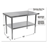Stainless Steel Table, 48 x 30 x 35, Silver