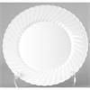 "Classicware Plastic Plates, 6"" Dia. White, 12/Bag, 15 Bag/Carton"