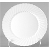 Classicware Plastic Dinnerware, Plates, White, 10.25 in, 12/Bag, 144/Carton
