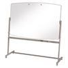 Quartet Total Erase Reversible Mobile Easel, 72 x 48, White Surface, Neutral Frame
