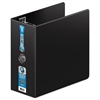 "Wilson Jones Ultra Duty D-Ring Binder, 5"" Cap, Black"