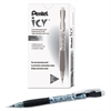 Pentel Icy Mechanical Pencil, .5mm, Trans Smoke, Dozen