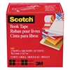 "Scotch Book Repair Tape, 3"" x 15yds, 3"" Core, Clear"
