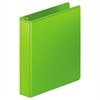 "Wilson Jones Heavy-Duty D-Ring View Binder w/Extra-Durable Hinge, 1 1/2"" Cap, Chartreuse"