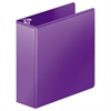 "Heavy-Duty D-Ring View Binder w/Extra-Durable Hinge, 3"" Cap, Purple"