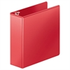 "Heavy-Duty D-Ring View Binder w/Extra-Durable Hinge, 3"" Cap, Red"