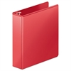 "Heavy-Duty D-Ring View Binder w/Extra-Durable Hinge, 2"" Cap, Red"
