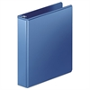 "Heavy-Duty D-Ring View Binder w/Extra-Durable Hinge, 1 1/2"" Cap, PC Blue"