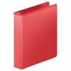 "Heavy-Duty D-Ring View Binder w/Extra-Durable Hinge, 1 1/2"" Cap, Red"