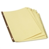 Universal Preprinted Plastic-Coated Tab Dividers, 31 Numbered Tabs, Letter, Buff, 31/Set