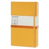 Moleskine Hard Cover Notebook, Ruled, 8 1/4 x 5, Orange Yellow Cover, 240 Sheets