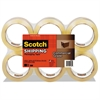 "3750 Commercial Grade Packaging Tape, 1.88"" x 54.6yds, 3"" Core, Clear, 6/Pack"