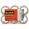 "3350 General Purpose Packaging Tape, 1.88"" x 109yds, 3"" Core, Clear, 6/Pack"