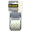 "Expressions Packaging Tape, 1.88"" x 500"", Green/Gray/White Dots & Stripes"
