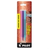 Pilot Refill for FriXion Erasable Gel Ink Pen, Assorted, 3/Pk