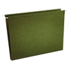One Inch Box Bottom Hanging Folder, Pressboard, Letter, Standard Green, 25/Box